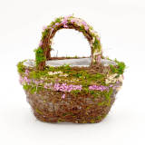 wicker flower girl basket               rose  lace flower girl basket               lillian