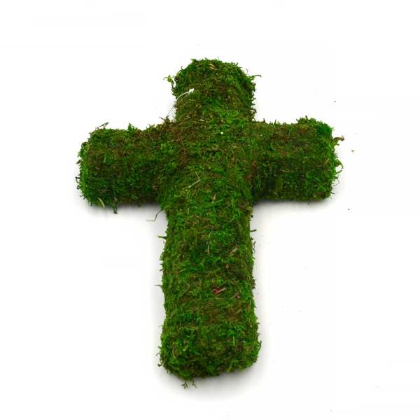 Natural Moss Cross for Spring Easter Arts and Crafts, Wire Frame