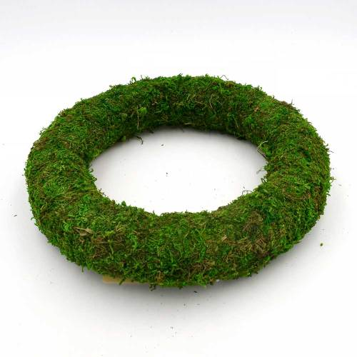 Moss Covered Styrofoam Wreath | DIY Moss Spring Wreath for Door