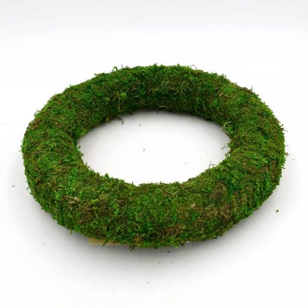 Moss Covered Styrofoam Wreath | DIY Moss Spring Wreath for Door