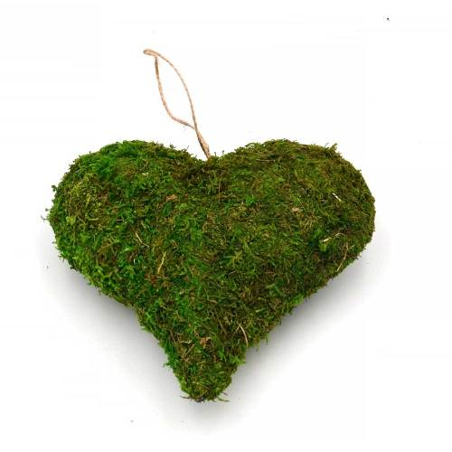 Woodland Moss Heart Wall Hanging Decor, Rustic Country Wedding Decor