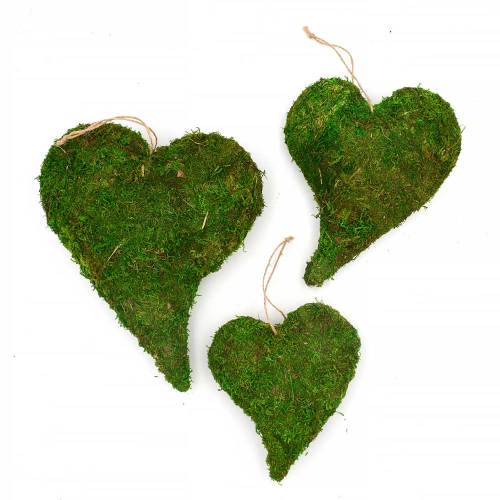 Preserved Moss Heart Wreath Frame, Wall Hanging Decor