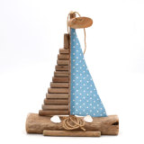 Driftwood Sailboat, Wall Hanging Art Beach Decor, 12Inch