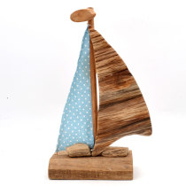 Driftwood Sailboat Ornament Nautical Crafts Boat, 16Inch
