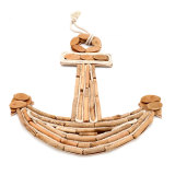 Wooden Anchor Wall Decor with Rope - Gift to the Wooden Wedding, 18Inch