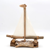 Driftwood Sailboat Ornament - Nautical Home / Hotel / Wedding / Office / Nursery Decor - Interior Design Drift Wood Ships