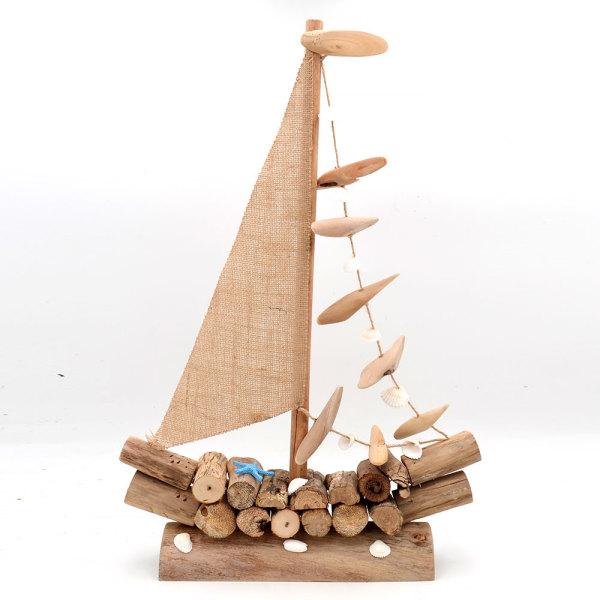 Driftwood Sailboat, Sailing Decor Sailor Gift, Beach Boat for Nautical Decor