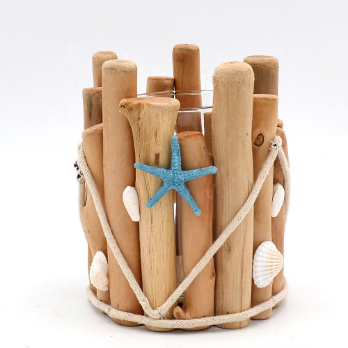Beautiful Beach Themed Candle Holders, Wooden