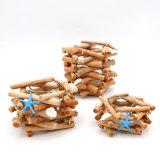 Candle Holders, Coastal Beach Home Decor Rustic Wooden Centerpiece for Wedding, Dining Table, Wooden Candle holder for Votives