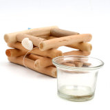 Wooden Square Candle Holders