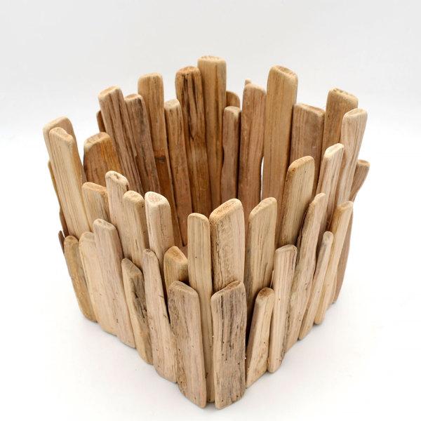 Driftwood Square Candle Holders, Driftwood Sculpture, Driftwood Art, Driftwood Centerpiece, Wedding Centerpiece, Beach house Decor