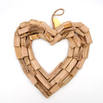 Heart Valentines Wreath, Reclaimed Wood, Home Goods, Wall Art, Handcrafted, Heart Wreath, Coastal Decoration
