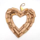 Heart Valentines Wreath, Reclaimed Wood, Home Goods, Wall Art, Handcrafted, Heart Wreath, Coastal Decoration