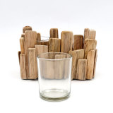 Rustic Driftwood Candle Holders for Farmhouse Decor