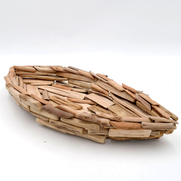 Driftwood Decorative Centerpiece Bowl - Rustic Kichen Fruit Bowl - Farmhouse Decor