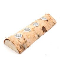 Log Candle Holders, Rustic Tea light Fireplace Log Candle Holder for Woodland Decor
