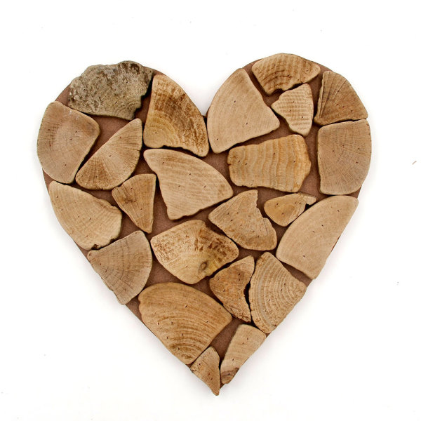 Driftwood Heart Coastal Decor