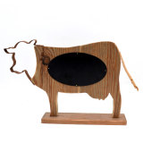 Farmhouse Decor Wooden Cow with Chalkboard, Rustic Farm Wooden Animal Decor, Farmhouse Kitchen Modern Country Rustic Sign
