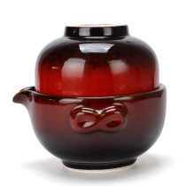 Chinese Travel Tea Set, Portable Kungfu Tea for One Set, Ceramic Teapot & Tea cup