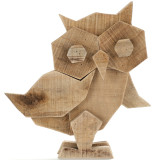 10 Inch Rustic Crafted Art Owl Statue (Wood) Animal Figurines for Home Decor, Living Room Bedroom Office Decoration