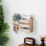 Wall Mount Wooden Entryway Mail Envelope Organizer- Rustic Farmhouse