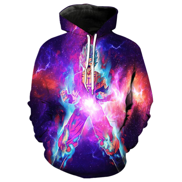 Goku Limit Breaker Pullover Hoodie - 3D Printing Clothing