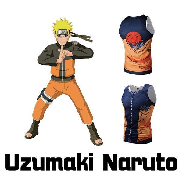 Uzumaki Naruto Damaged Tank Top