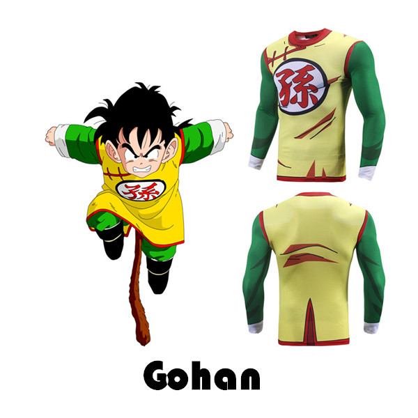Son Gohan Moisture Wicking Long Sleeve Compression Tee