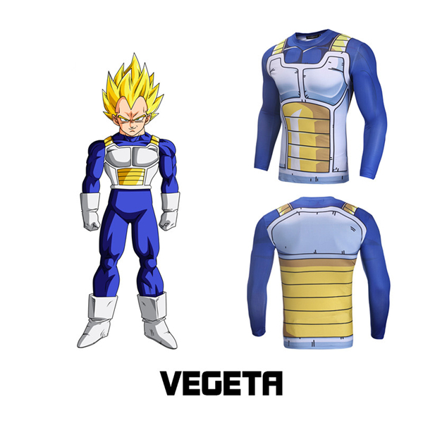 Vegeta Cell Saga Saiyan Armor Gym Compression Shirt