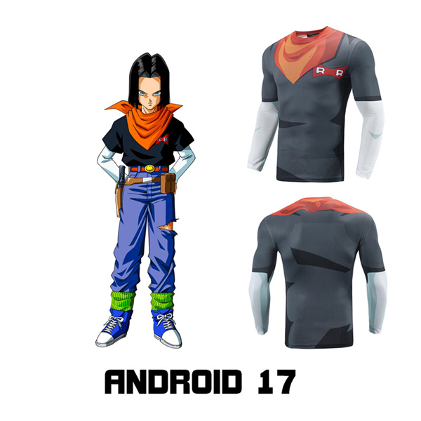 Android 17 Lapis Compression Tee Sports