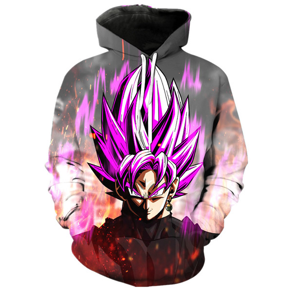 Goku Black Rose Aura Sweatshirts Hoodies