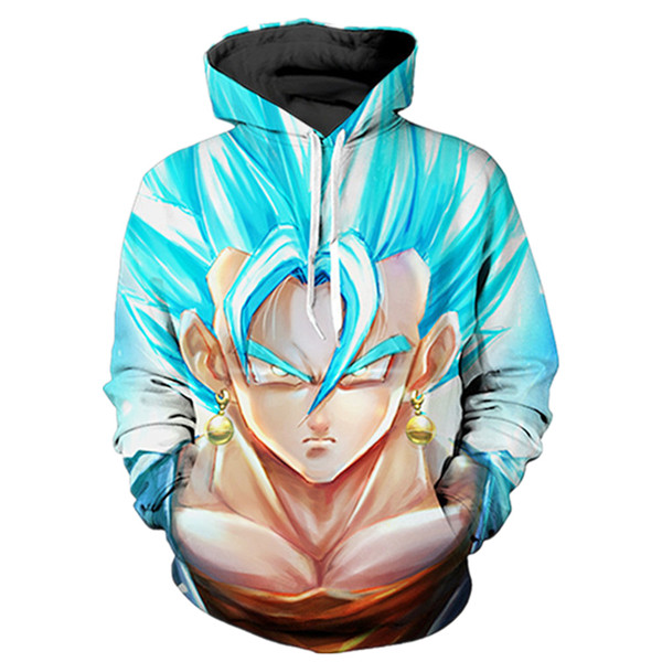 Vegetto Super Saiyan Blue Serious Face Hoodies
