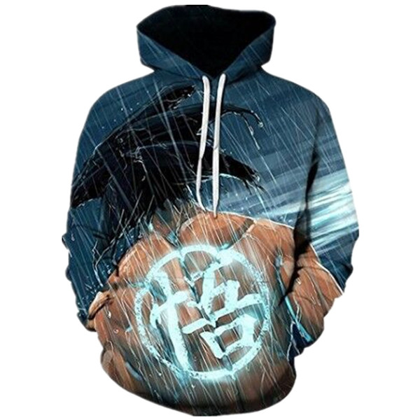 Rainy Day Goku Sweatshirts Hoodies