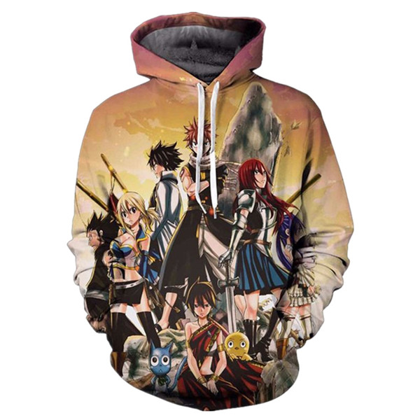 Fairy Tail Guild Members Hoodie Sweatshirts