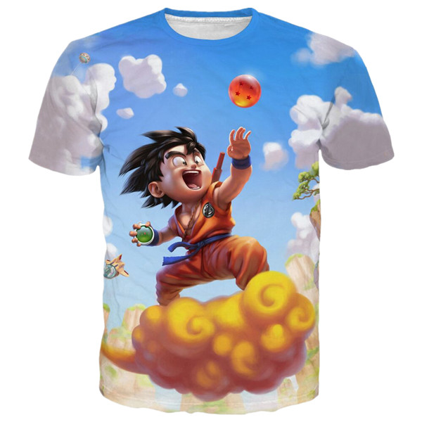 3D Version Goku And Nimbus Funny T Shirt Birthday Gift