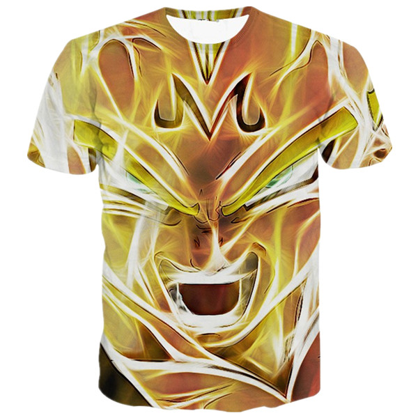 Bewitched SSJ Vegeta Powerful Summer Tops T-shirt