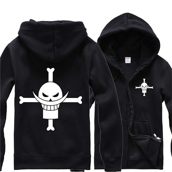 One Piece Sweater White Beard Hoodie Hooded Sweater Coat Edward·Newgate
