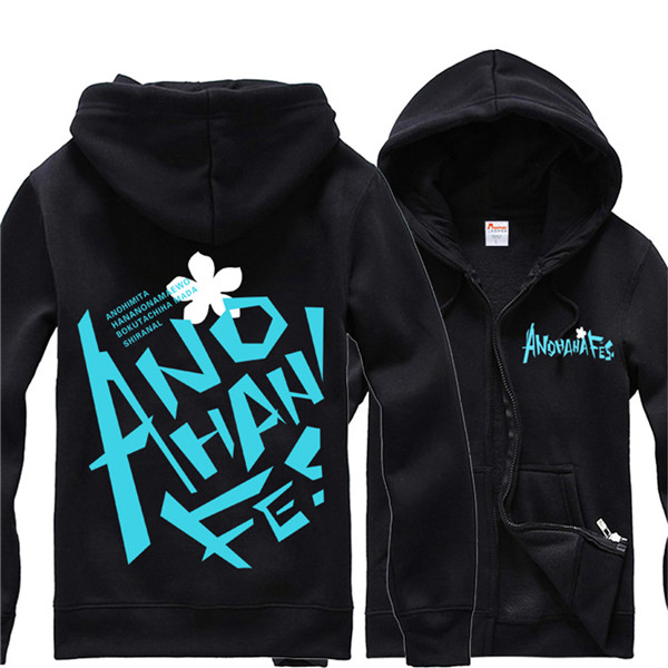 The Flower We Saw That Day Full Zip Hooded Sweatshirt Anohana