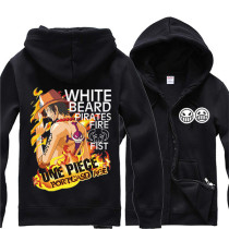 One Piece Anime Contrast Color Hoodie Portags D Ace