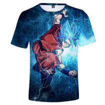 Goku Super Saiyan God Blue Summer Tees Shirts