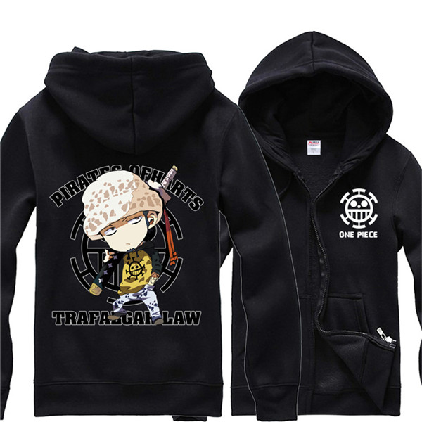 One Piece Anime Hoodie Cute Version Trafalgar Law