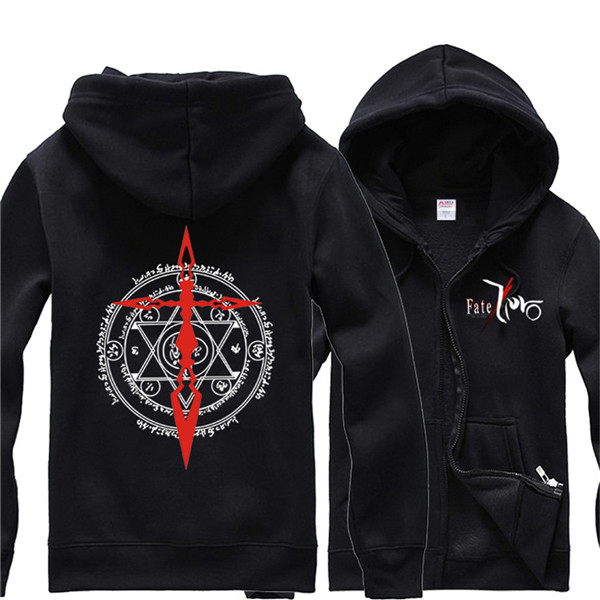 Anime Fate Zero Winter Zipper Coat Fleece  Command Spell