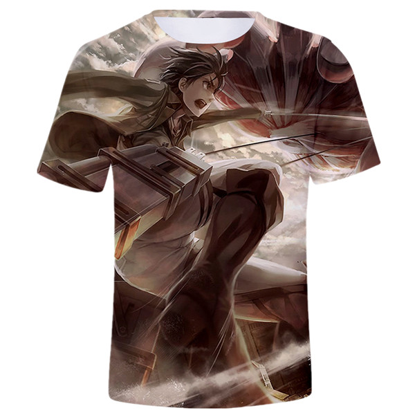 Eren Fight Colossus Titan T-shirt Birthday Gift