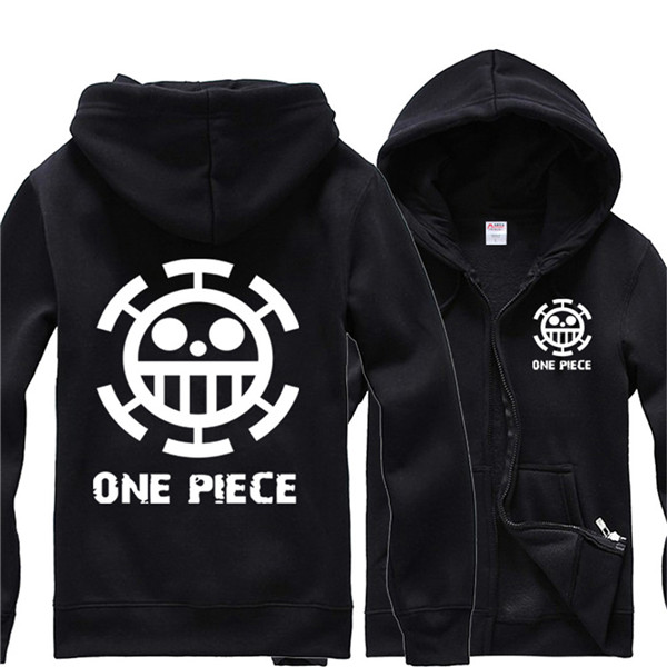 One Piece Trafalgar Law Hoodie Pirate Logo