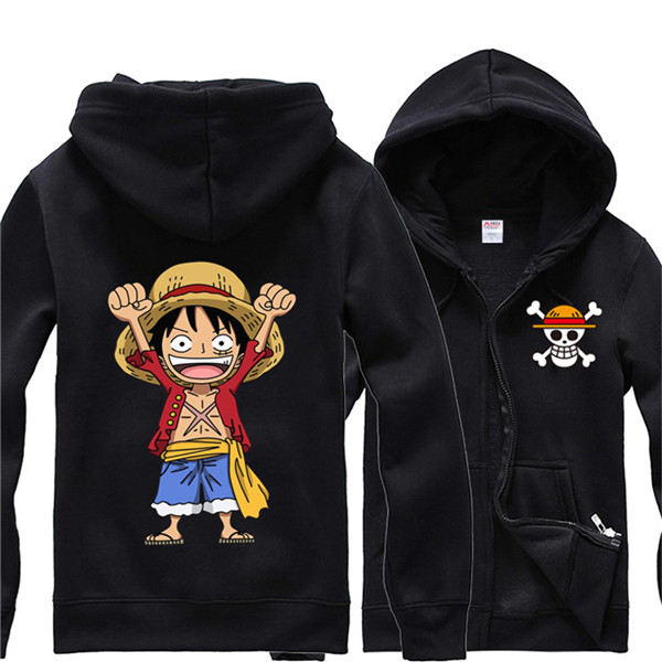 One Piece Unisex Graphic Hoodies Jacket Luffy A