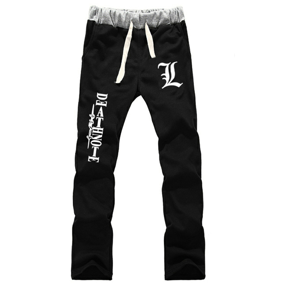 Death Note Cotton Knit Elastic Kids Pants L Symbol