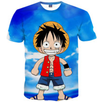Cute Luffy 3d Funny Print Leisure T-shirt