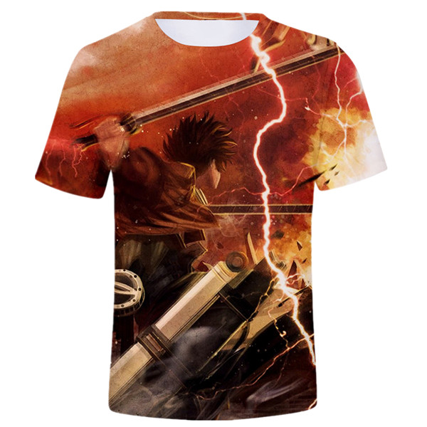 Eren Battle Scene T-shirt Birthday Gift