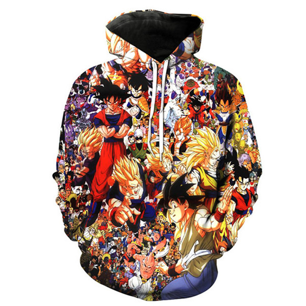 Anime Dragon Ball All Character Men Print 3D Sweatshirt Pullover Hoodie