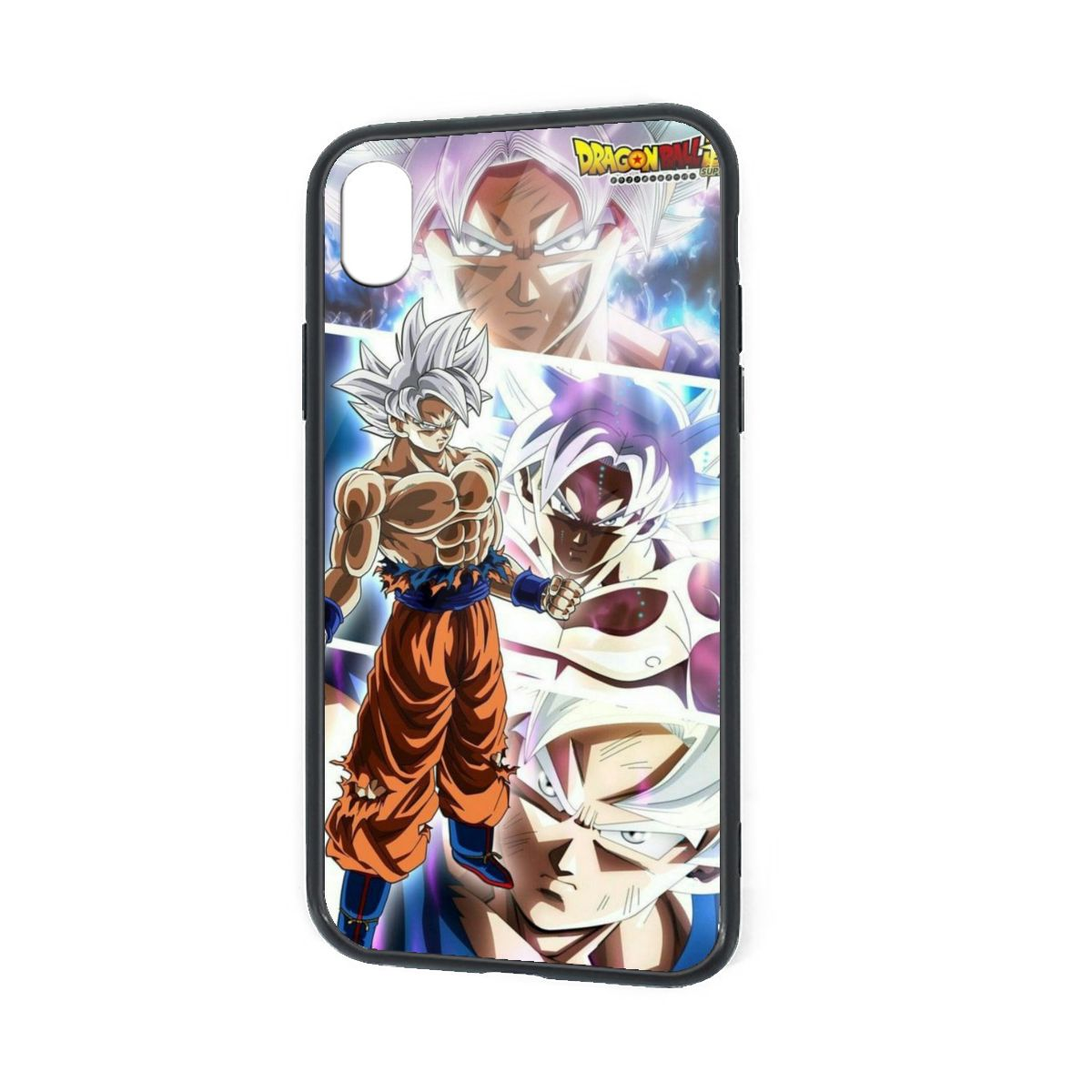 IPhone X XR XS 6 7 8 Plus Hybrid Soft Grip Clear Back Panel Ultra-Thin [Slim Fit] Cover Silver Goku Ultra Instinct